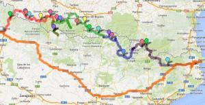 Ruta Transpirenaica que haremos (seguimos haciendo cambios), pero la salida es mañana desde Cervera pueblo de Marc Marquez